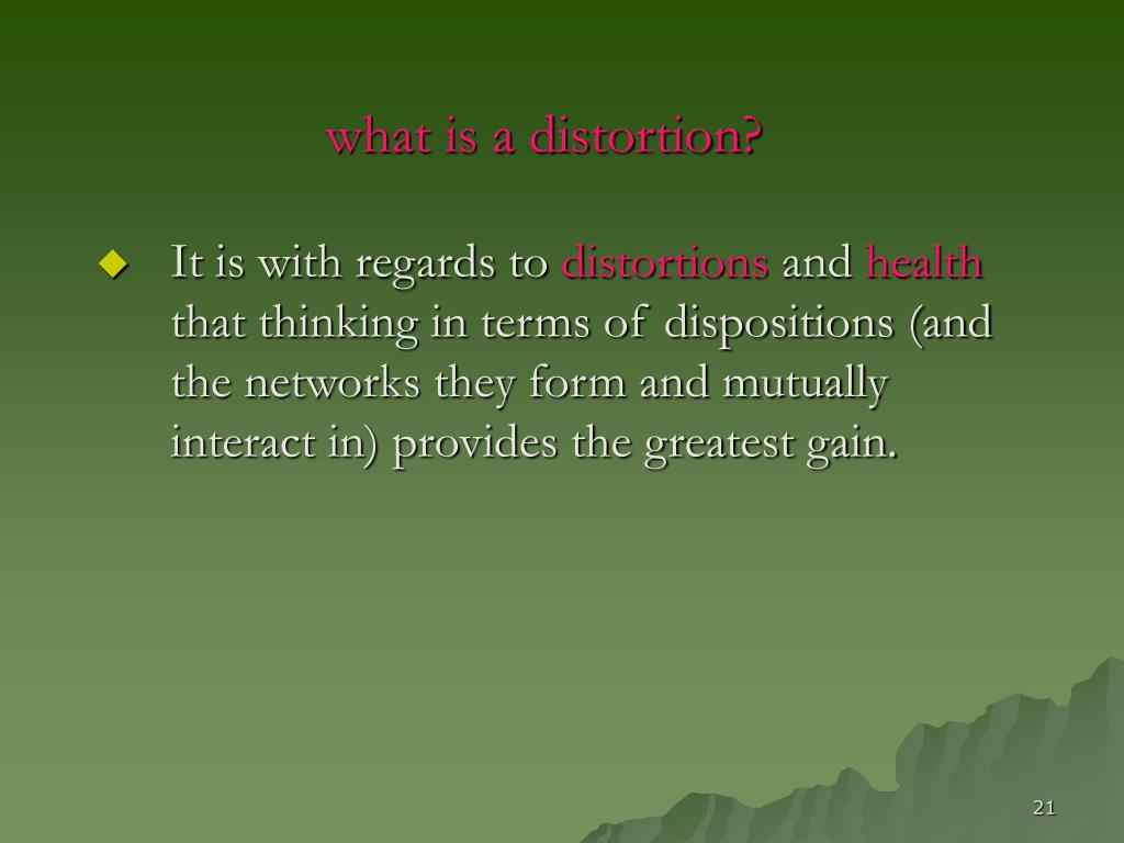 what is a distortion?