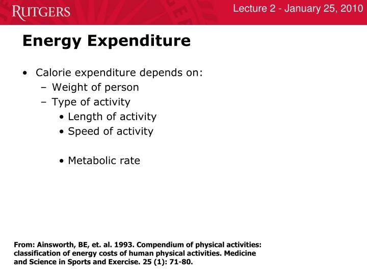 Energy Expenditure
