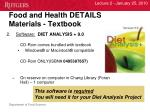 food and health details materials textbook2