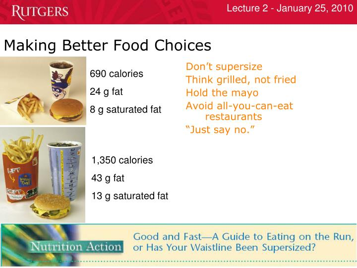Making Better Food Choices