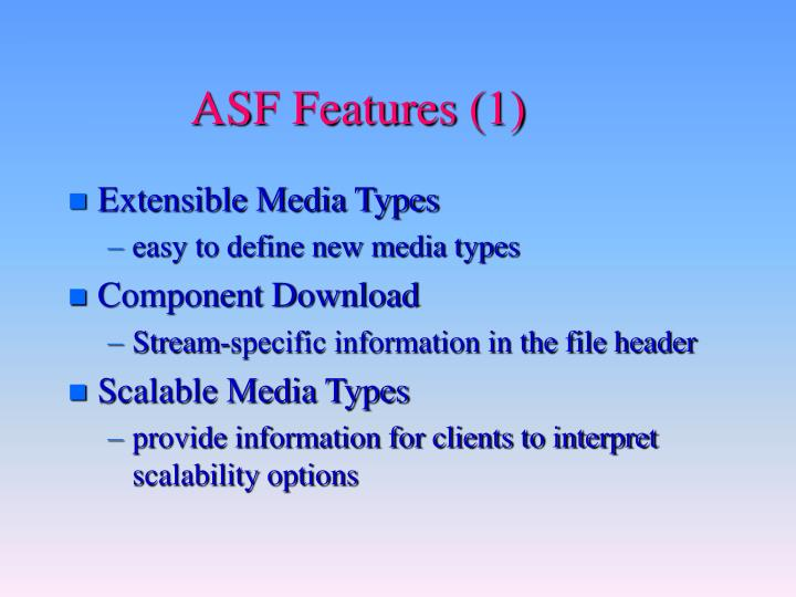 Asf features 1