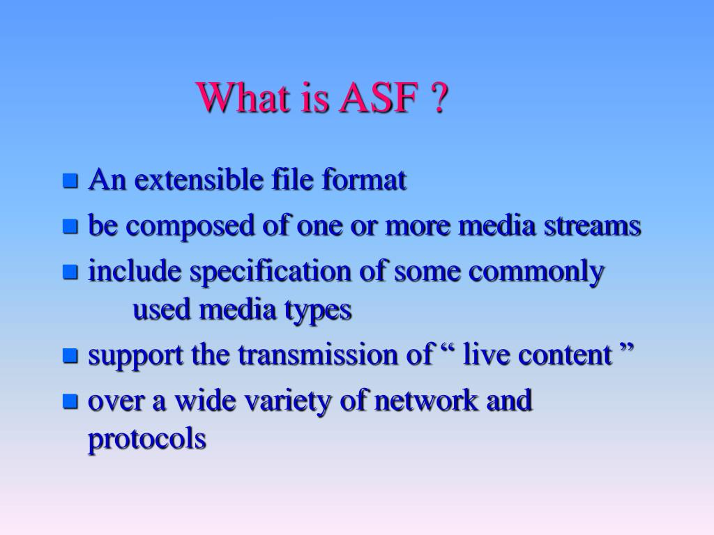 What is ASF ?