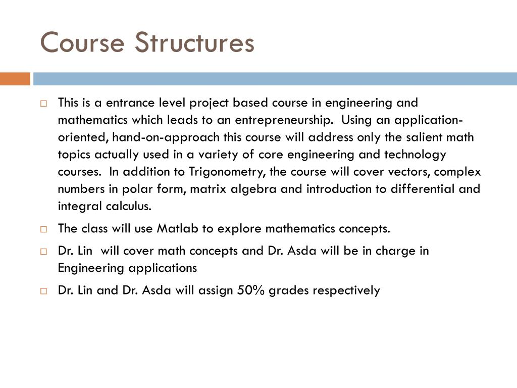 Course Structures