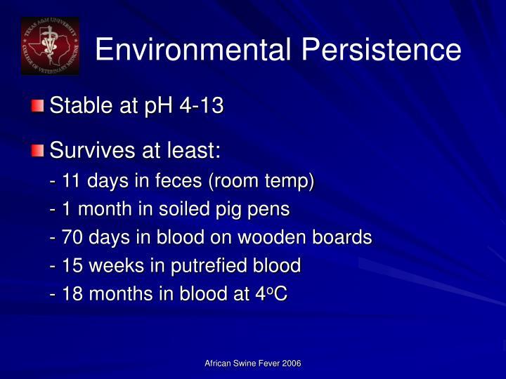 Environmental Persistence