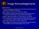 image acknowledgements
