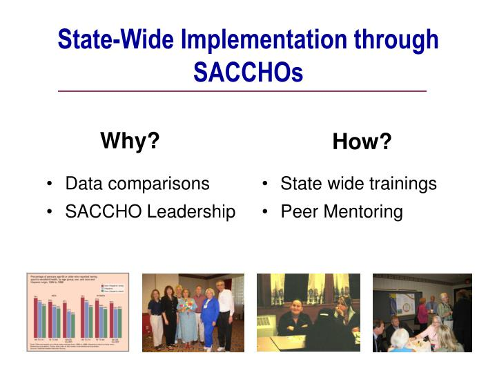 State-Wide Implementation through SACCHOs