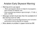 aviation early skywave warning