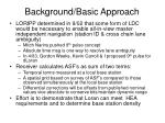 background basic approach