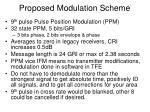 proposed modulation scheme