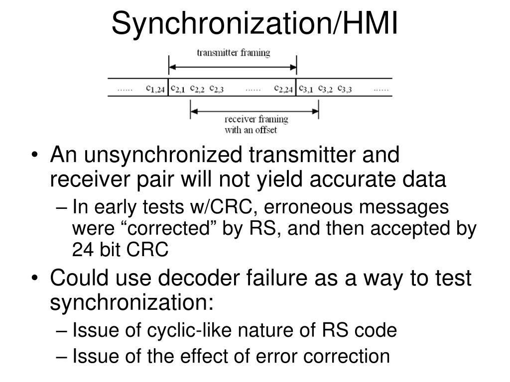 Synchronization/HMI