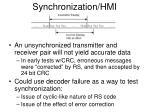 synchronization hmi