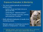 exposure evaluation monitoring