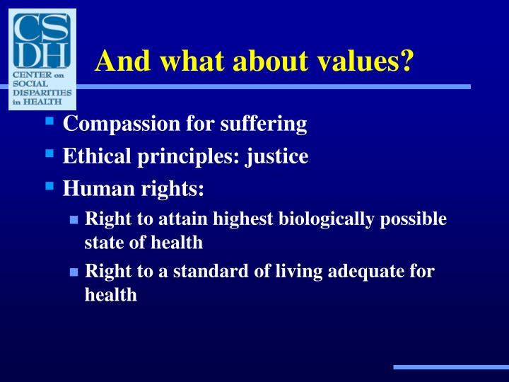 And what about values?