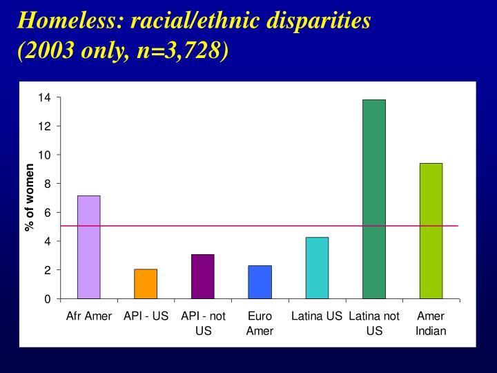 Homeless: racial/ethnic disparities