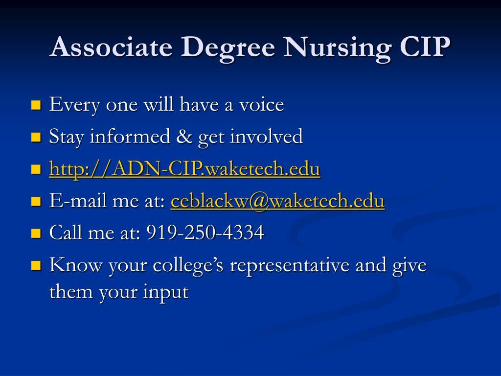 Associate Degree Nursing CIP