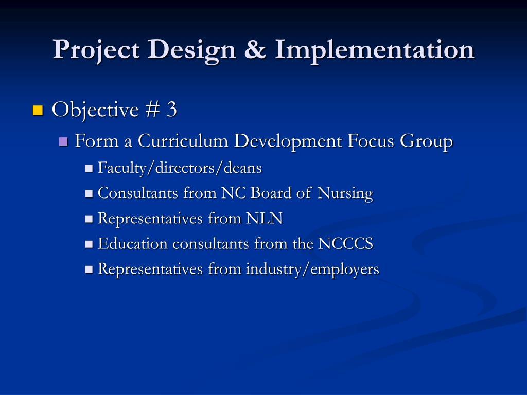 Project Design & Implementation