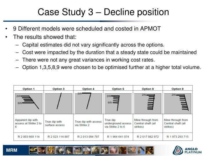 Case Study 3 – Decline position