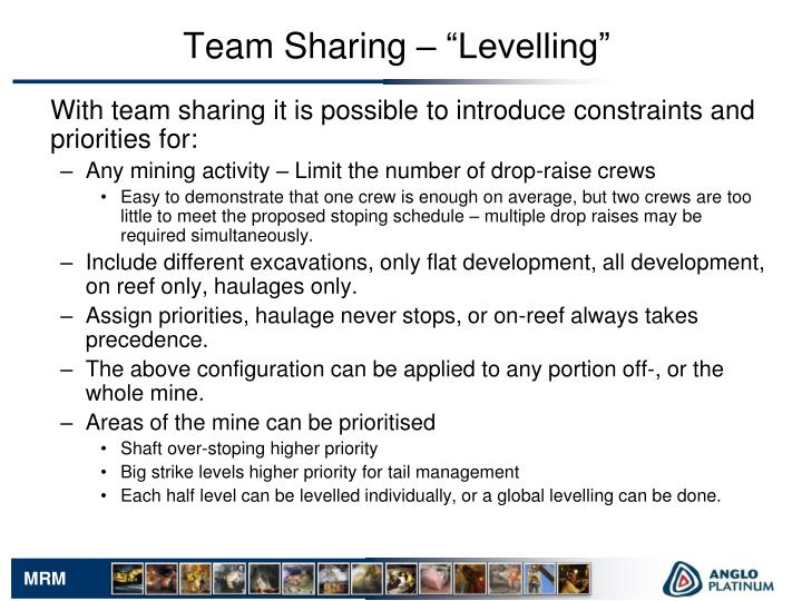 """Team Sharing – """"Levelling"""""""