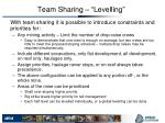 team sharing levelling