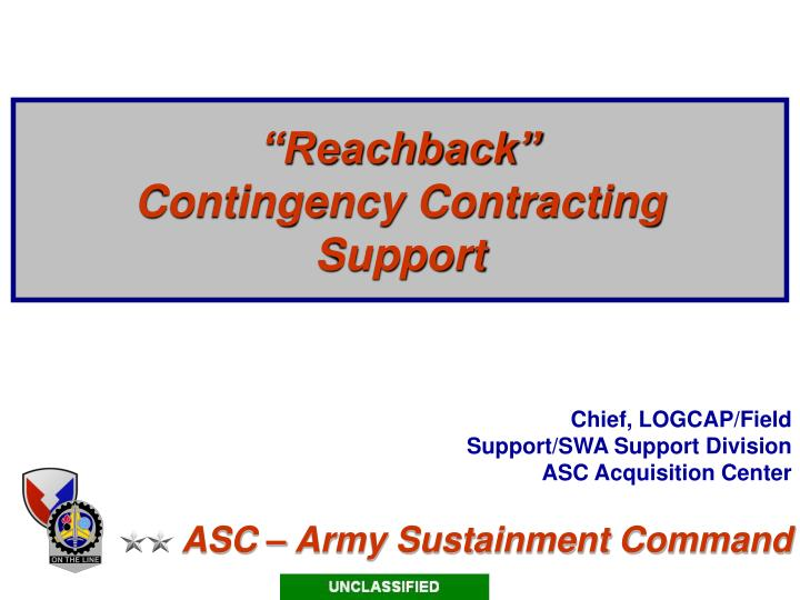 Reachback contingency contracting support l.jpg