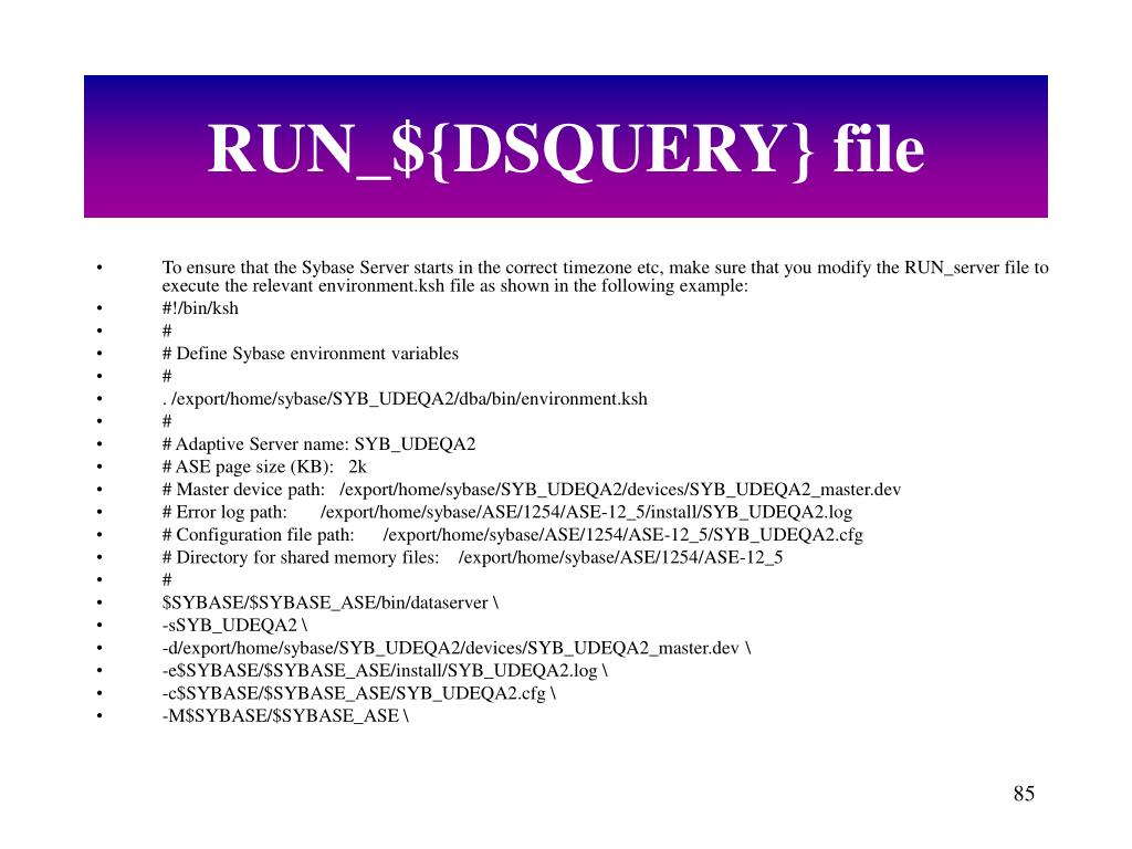 RUN_${DSQUERY} file