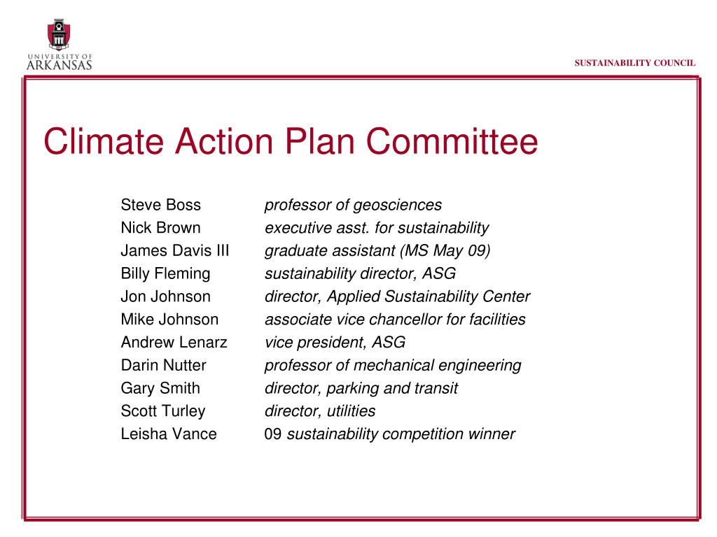 Climate Action Plan Committee