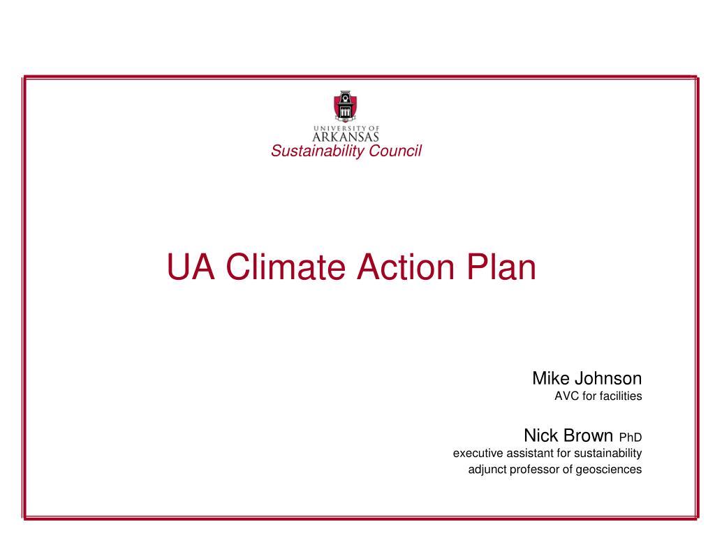 UA Climate Action Plan