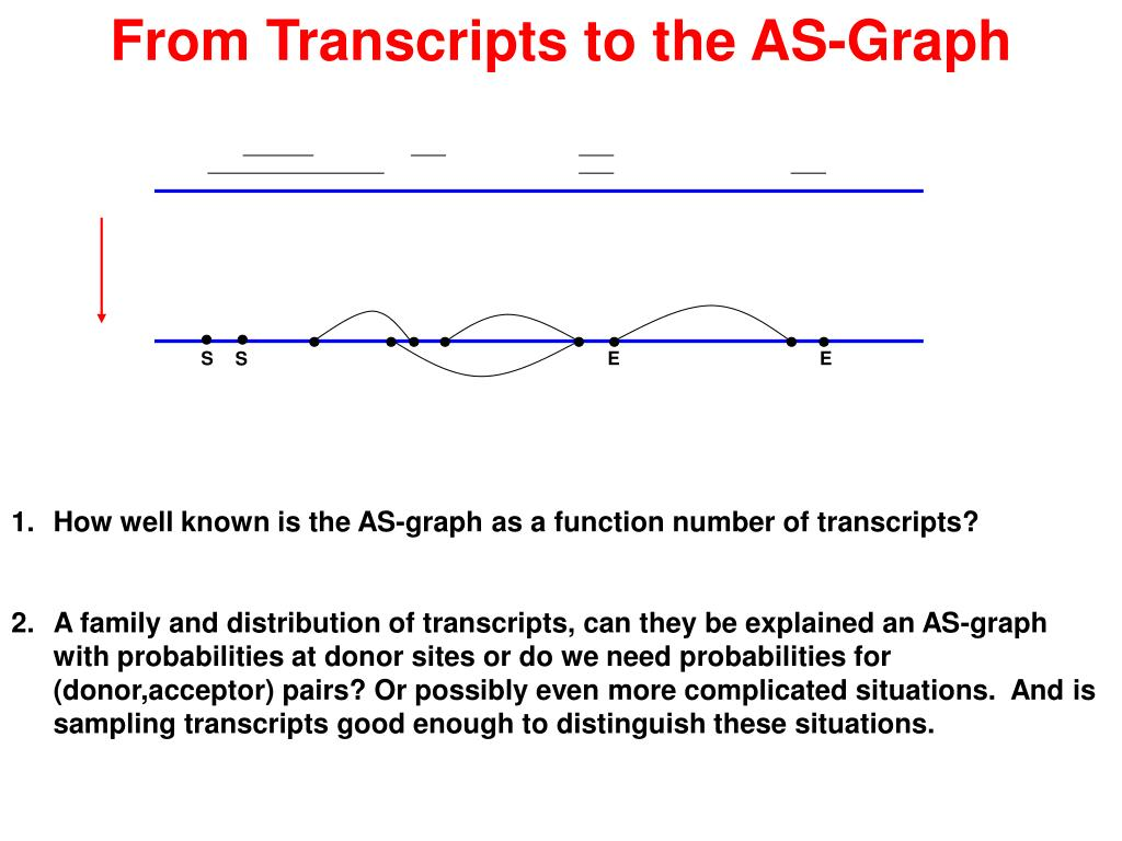 From Transcripts to the AS-Graph