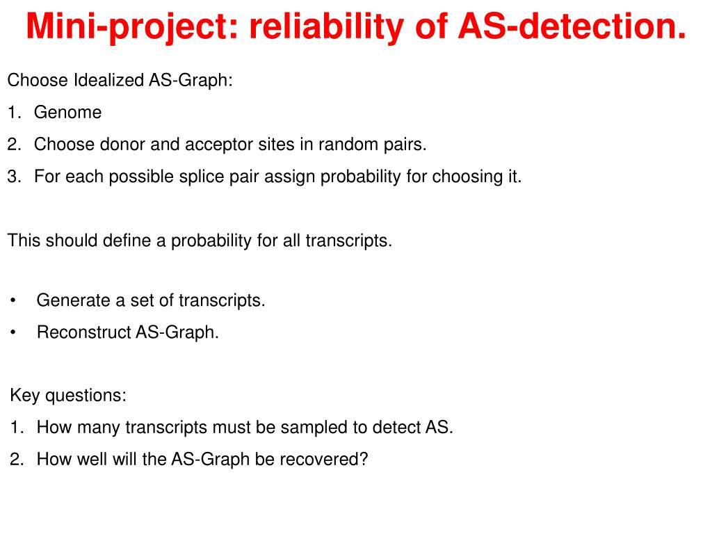 Mini-project: reliability of AS-detection.
