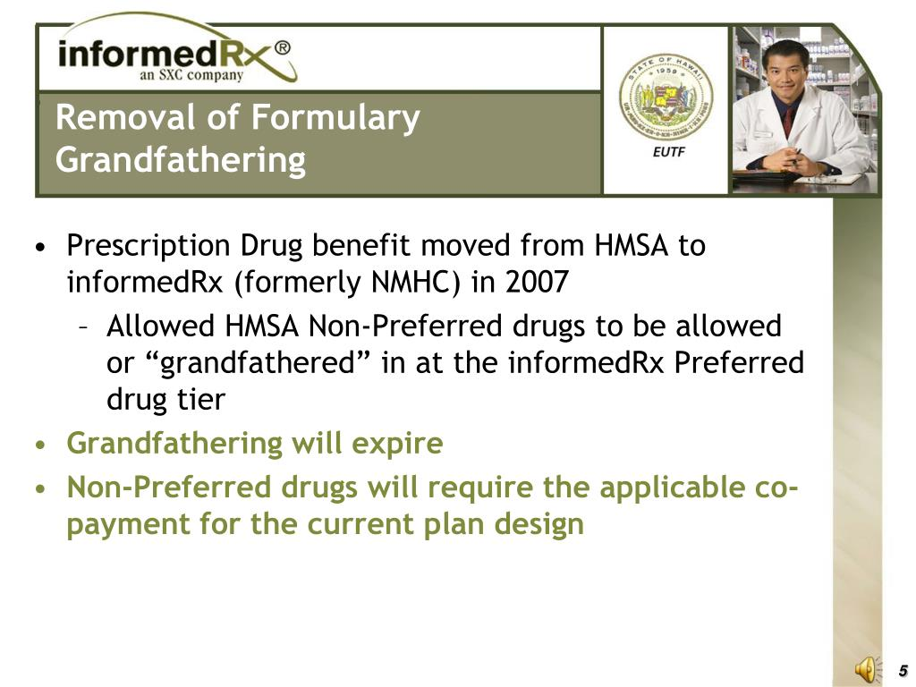 Removal of Formulary