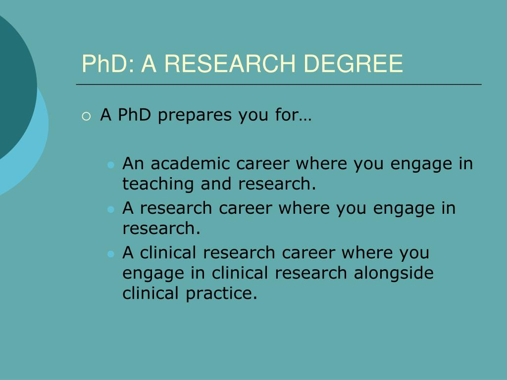 PhD: A RESEARCH DEGREE