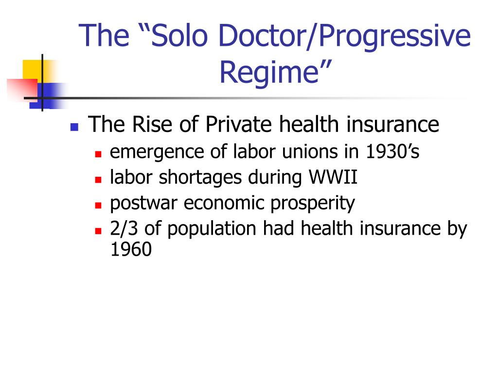 "The ""Solo Doctor/Progressive Regime"""