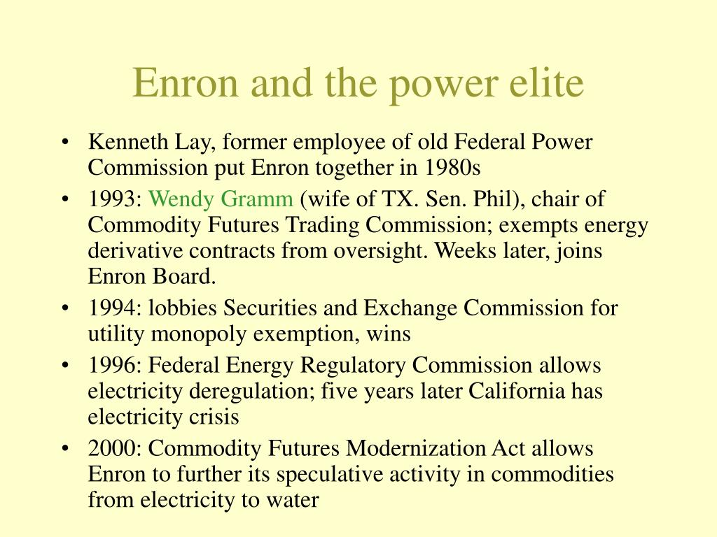 Enron and the power elite
