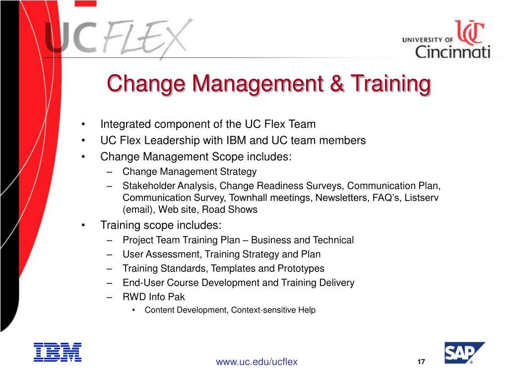 Change Management & Training