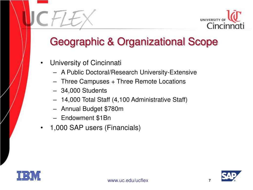 Geographic & Organizational Scope
