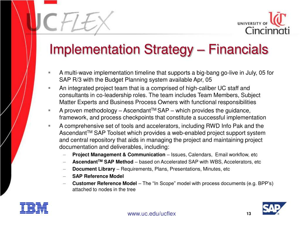 Implementation Strategy – Financials