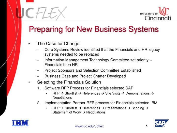 Preparing for new business systems