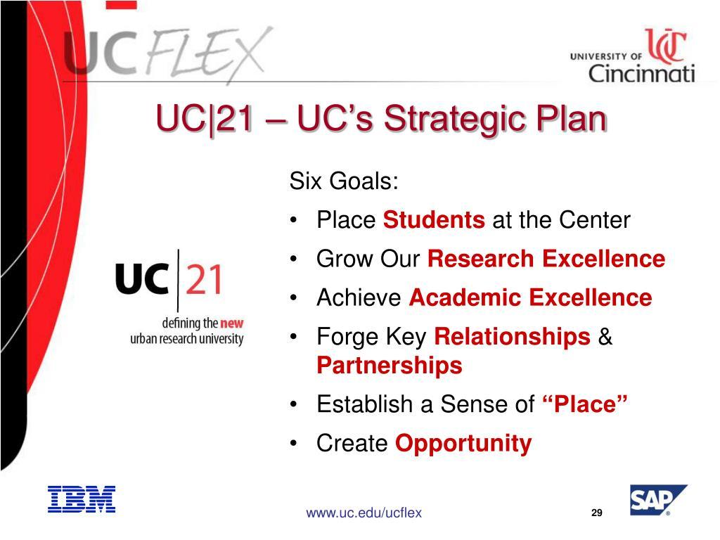 UC|21 – UC's Strategic Plan