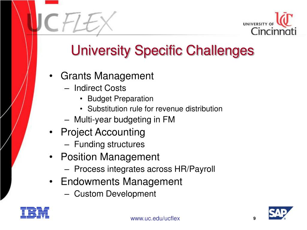University Specific Challenges