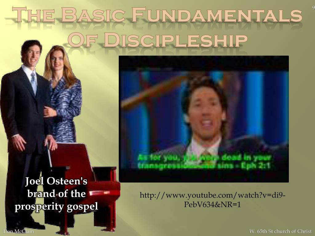 The Basic Fundamentals Of Discipleship