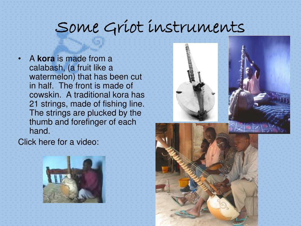 Some Griot instruments