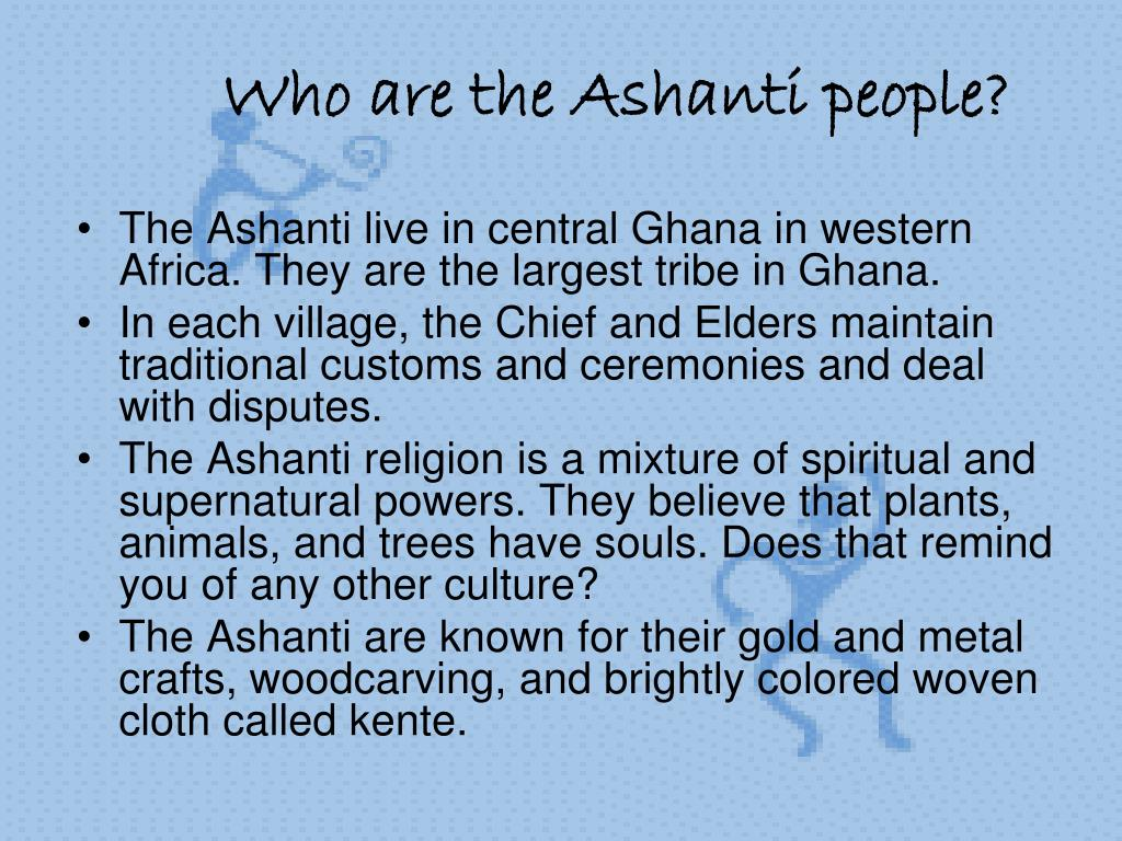 Who are the Ashanti people?