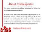 about clickexperts