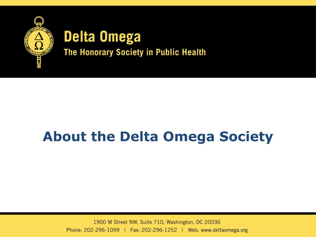 About the Delta Omega Society