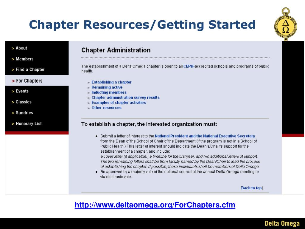 Chapter Resources/Getting Started