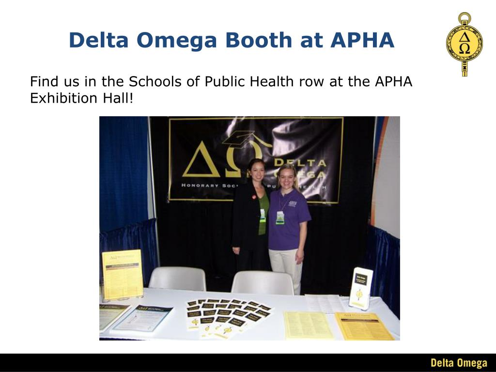 Delta Omega Booth at APHA
