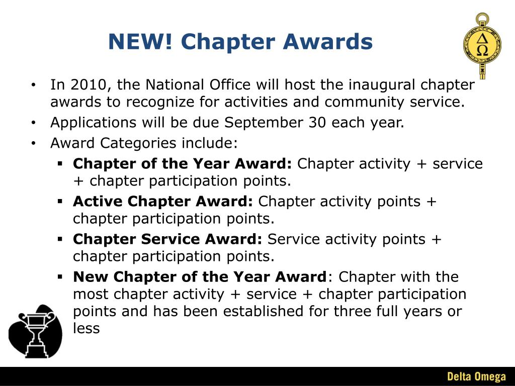 NEW! Chapter Awards