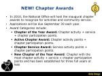 new chapter awards