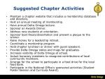 suggested chapter activities
