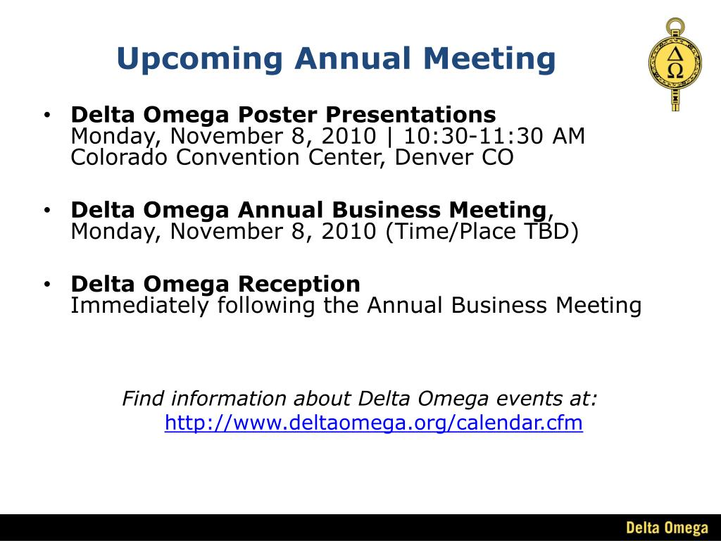Upcoming Annual Meeting